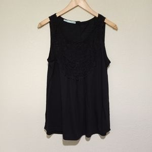 Maurices black crochet top tank